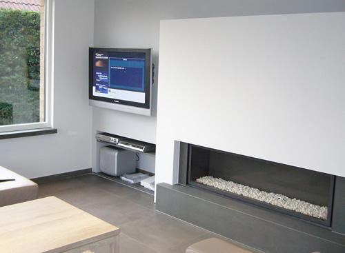 realisaties home cinema met plasma tv frans van eeckhout. Black Bedroom Furniture Sets. Home Design Ideas