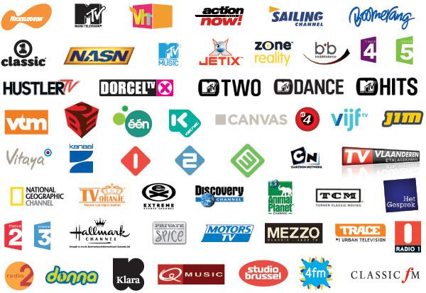 TV Vlaanderen zenderlijst