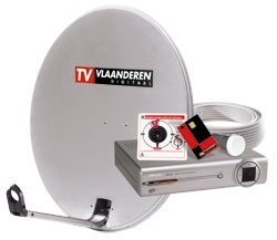 Schotelset TV Vlaanderen digitale tv via satelliet
